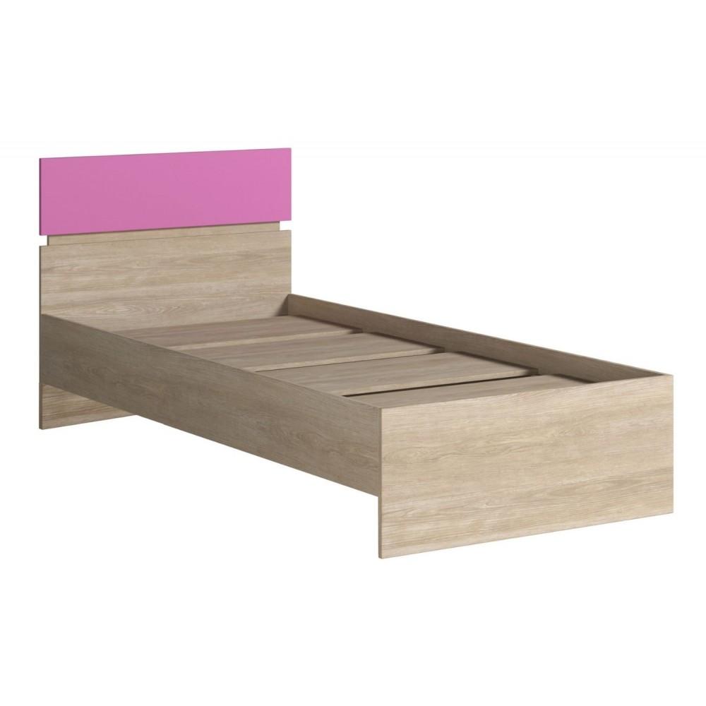 Кровать 900 (с основанием) FORMULA Дуб Сонома/Розовый