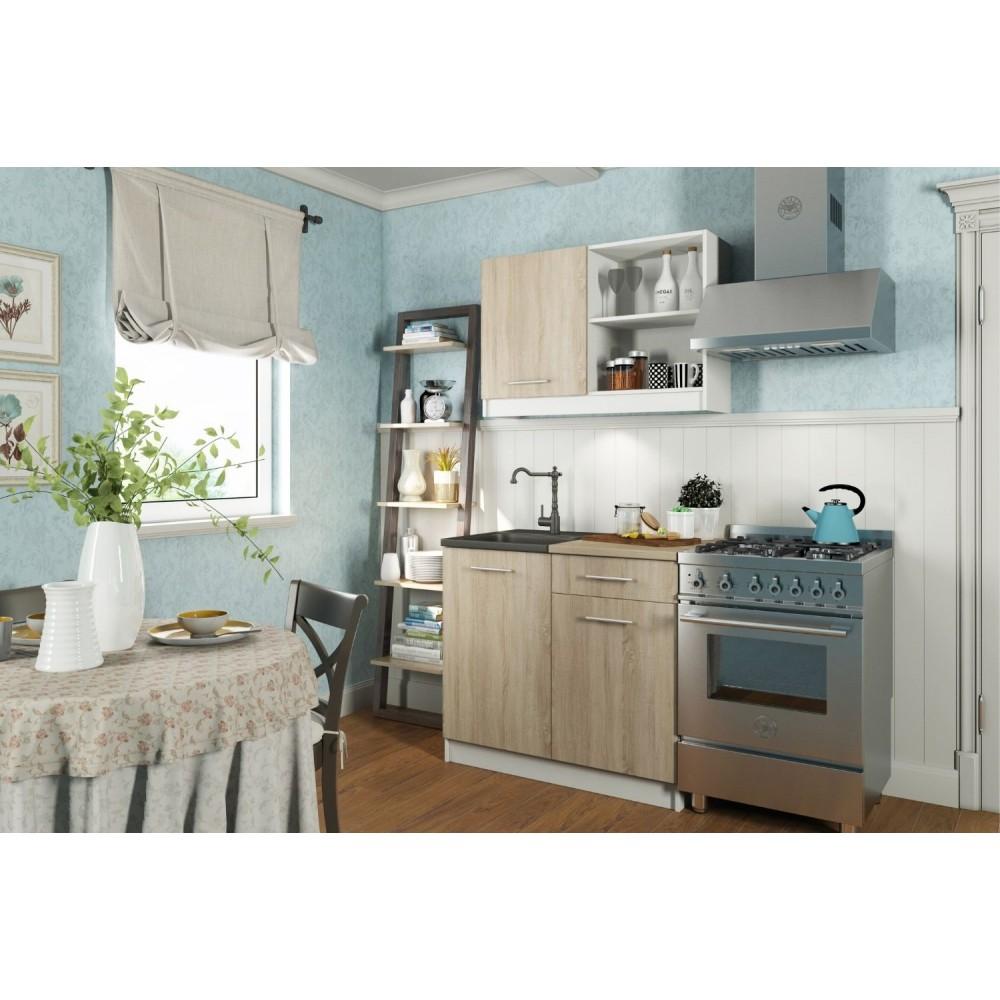 Кухонный гарнитур АЛИСА MINI 1 Белый/Дуб Сонома