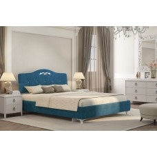 Кровать Adelina 1 Ажур 43 синий