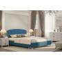 Кровать Adelina Ажур 43 синий