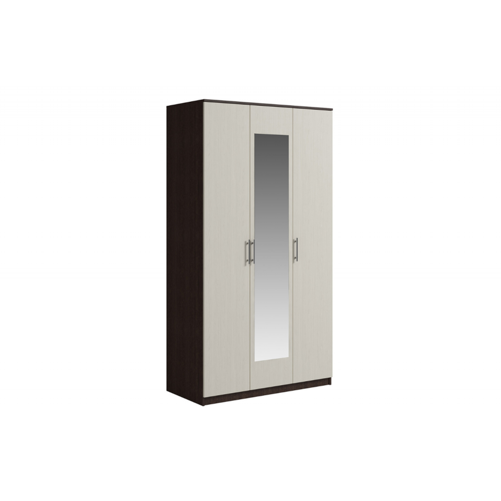 Шкаф 3 двери с зеркалом SVETLANA Венге/Дуб молочный
