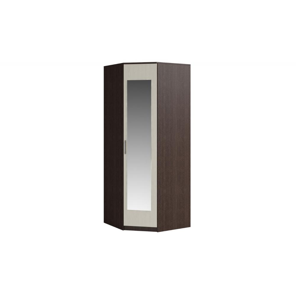 Шкаф угловой с зеркалом SVETLANA Венге/Дуб молочный