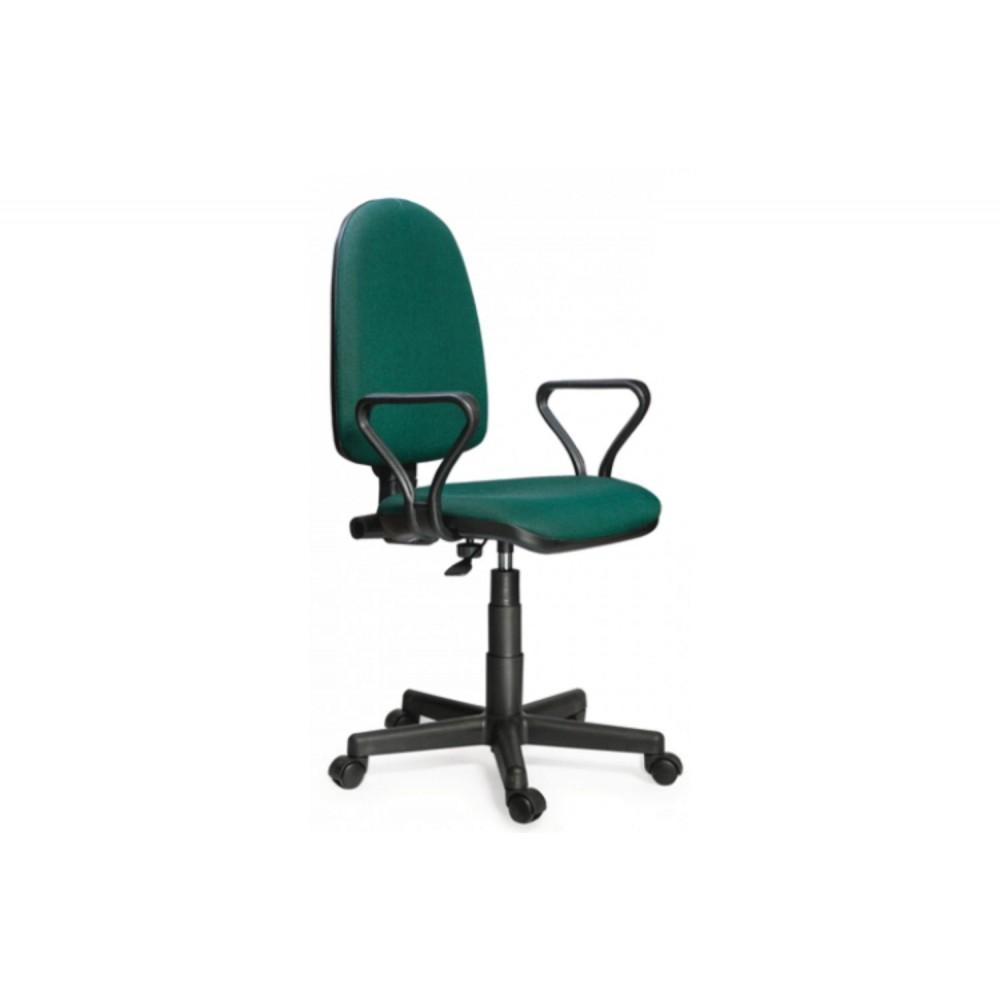 Кресло оператора Prestige Lux gtpPN/ S32 зелено-черный
