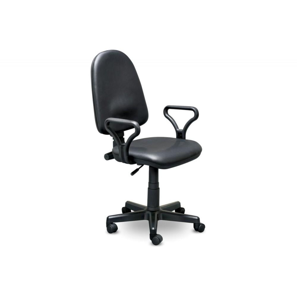 Кресло оператора Prestige Lux gtpPN/ Z11 кожзам черный