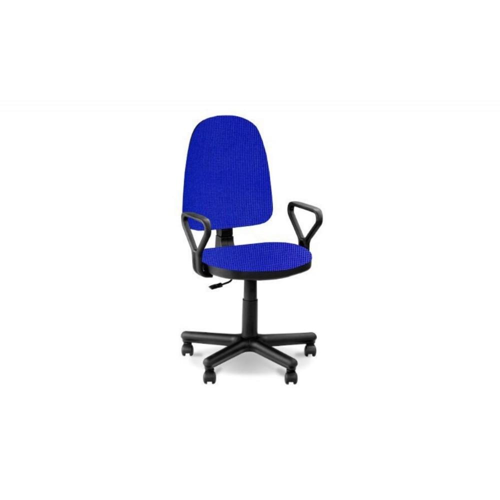 Кресло оператора Prestige Lux gtpPN/ S14 черно-синий.