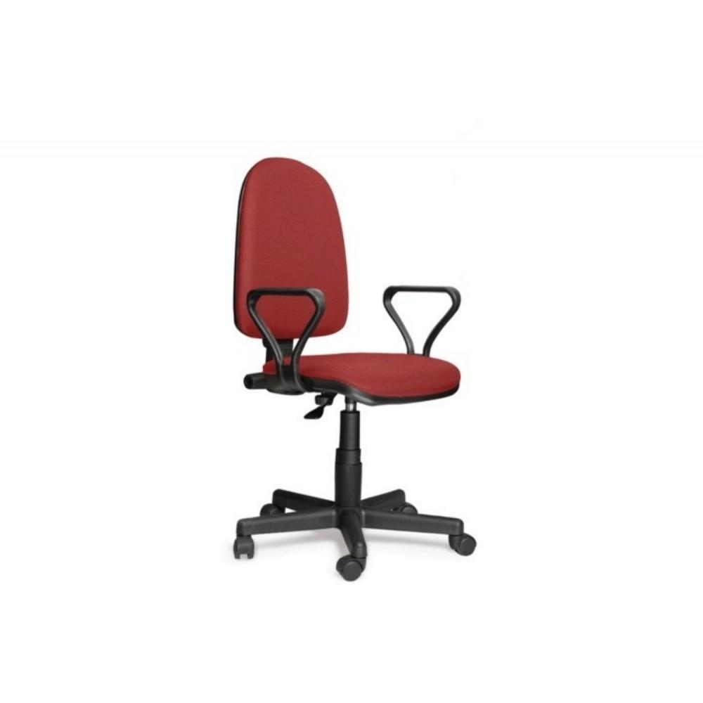 Кресло оператора Prestige Lux gtpPN/ S16 черно-красный
