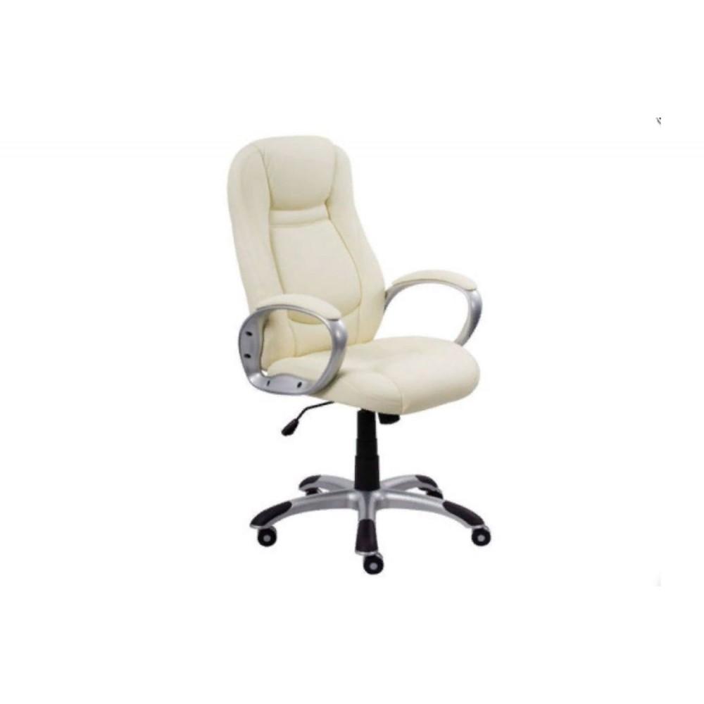 Кресло руководителя Gloria PLN PU16 молочный